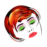 Make up and hair graphic- Lady with a pout