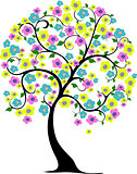 Spring tree in vector format