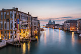 View on Grand Canal and Santa Maria della Salute Church from Acc