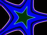 Blue abstraction star