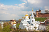 Spring May view Church of Elijah Prophet and Kremlin Nizhny Novg