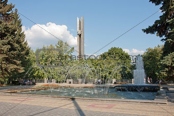 Fountain and the obelisk