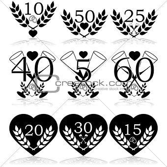 Anniversary icons