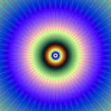 Circular in Blue Violet Green and Bronze