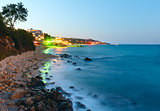 Night summer coastline (Bulgaria).
