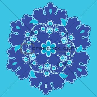 blue oriental background
