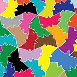 love pattern of geometric butterfly