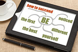 success tips on digital tablet