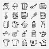doodle kitchen icons