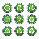 Set of different recycle icons