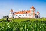 Castle in the town of Mir. Belarus.