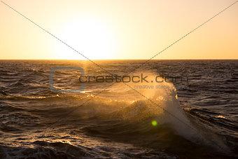 Beautiful sunrise over the sea.