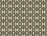 black ottoman seamless pattern