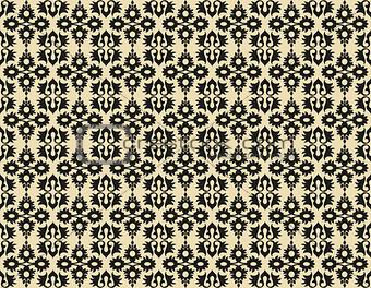 black ottoman seamless pattern