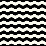 Retro seamless Wave pattern in black and white