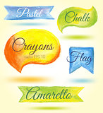 Crayon design elements