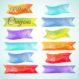 Crayon design Ribbons