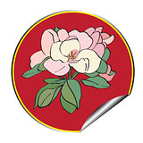 apple flower sticker
