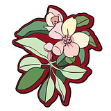 tree flower clipart
