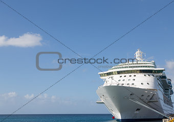 Cruise Ship and Copy Space