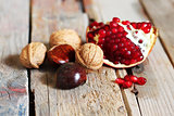 Nuts and pomegranate