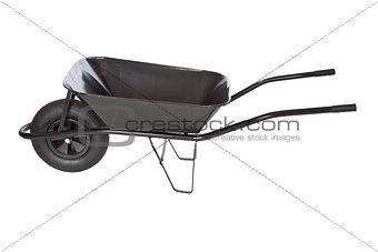 black wheelbarrow