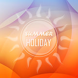 summer holiday background with sun, flat design