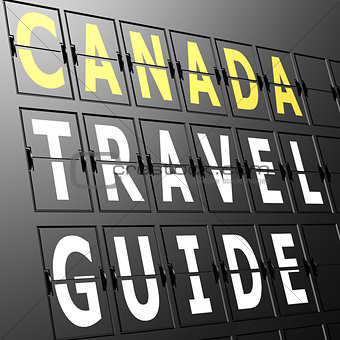 Airport display Canada travel guide