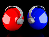 headphones icon. music concept