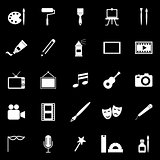 Art icons on black background