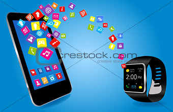 Smartwatch and Smart phone