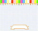 Notepad blank page and stationery  vector illustration.