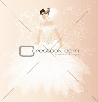Beautiful bride card