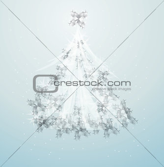 artistic christmas tree design illustration