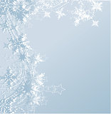 blue winter background & snowflakes