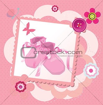 Cute template for baby's arrival announcement card