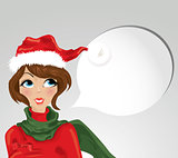 Christmas girl - vector
