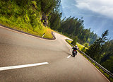 Biker in Austrian mountains