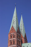 Towers of the Marienkirche in Lubeck