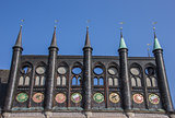 Shields of the city hall in Lubeck