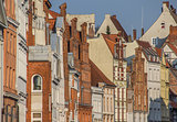Historic buildings in the evening light in Lubeck