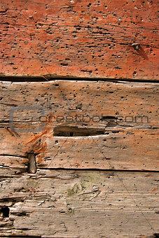 Old Damaged Wooden Background