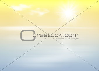 Beach and sea with sunrise