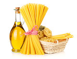 Pasta and olive oil bottle
