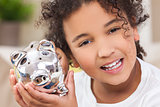 Girl Child Piggy Savings Money Bank