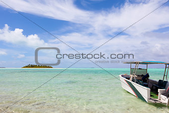 boat and island view