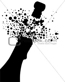 Champagne Bottle Silhouette