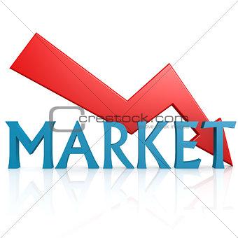 Arrow down market