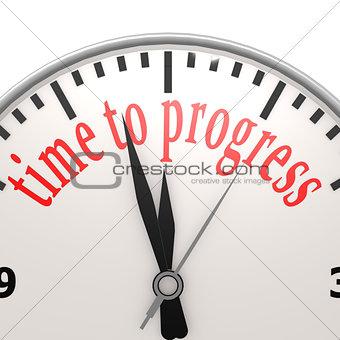 Time to progress