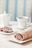 Teatime with chocolate salami